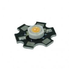 Светодиод 3 W радиатор полный фитоспектр фито для растений