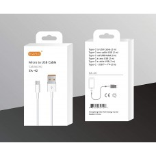 Кабель USB-MICROUSB 2A 100 см EZRA EA-42