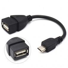 OTG кабель переходник microUSB-USB адаптер