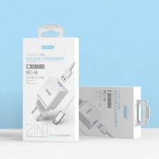 Зарядное устройство с USB EZRA HC16 iOS Lightning (5В, 2400mA)