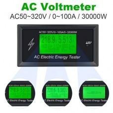 Ваттметр Atorch AT3010, AC 50-320В, 100А