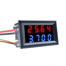 Вольтметр амперметр DC 0-200В 10А 4 разряда