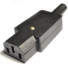 Гнездо AC-012, 3PIN на кабель, компьютерное
