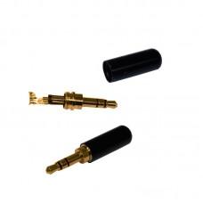 Штекер JACK 3,5 HQ 3pin металлический корпус, позолоченные контакты