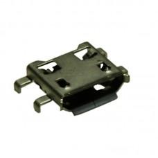 Гнездо micro USB 5pin фланцы посередине для установки в вырез