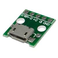 Модуль microUSB PCB гнездо на плате