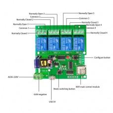 Wi-Fi Беспроводной модуль 4 канала KKMOON